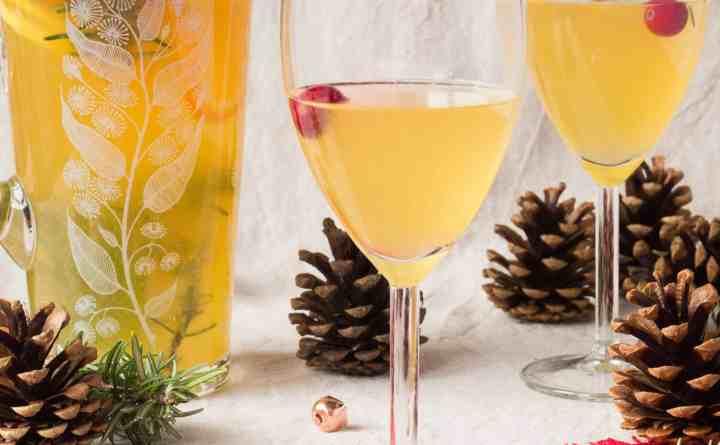 Gluten-Free, Vegan Christmas White Sangria