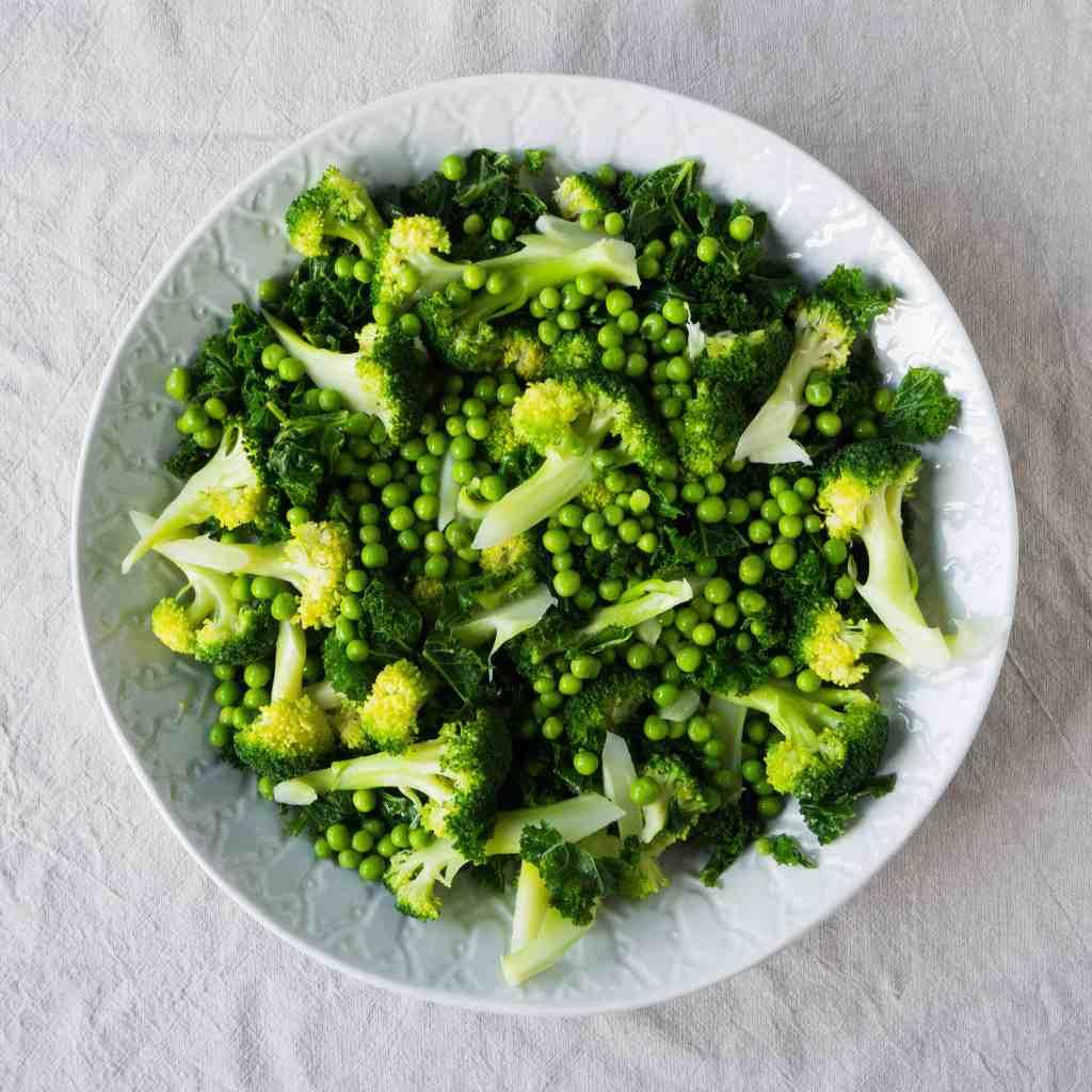 Broccoli, Kale and Pea Salad