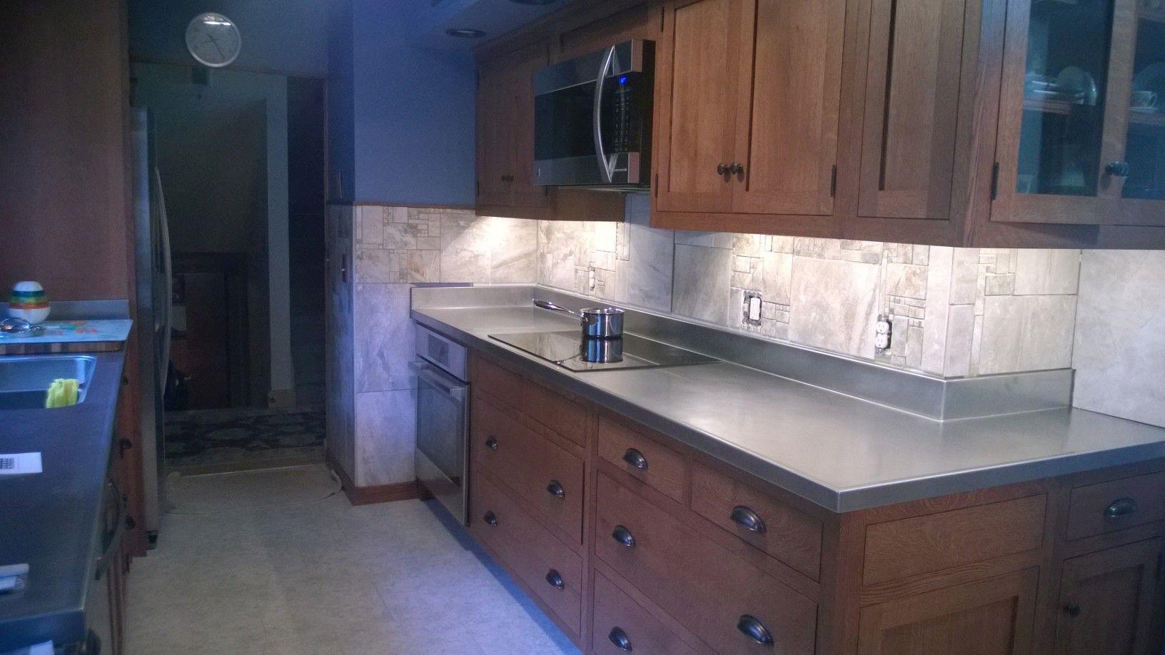 custom stainless steel countertops