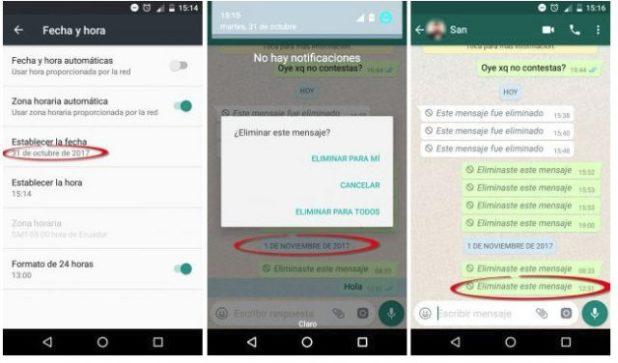 Trucos Whatsapp: Eliminar mensajes de Whatsapp de hasta 7 días atrás o 7 minutos y Whatsapp se ha caído este viernes