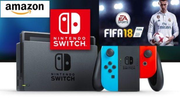 Fifa 18 y Nintendo Switch lo más vendido del tecnología en Amazon