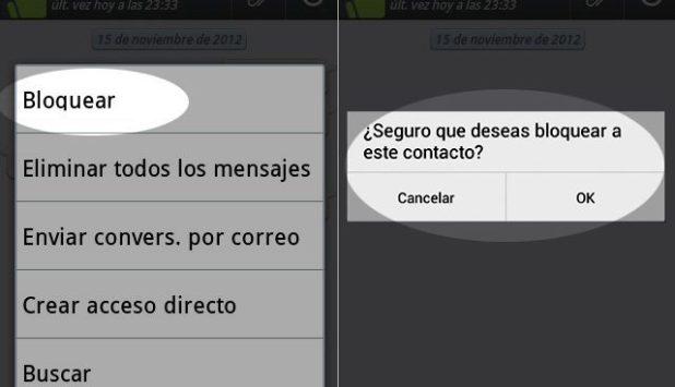 ¿Cómo bloquear a un contacto en Whatsapp?