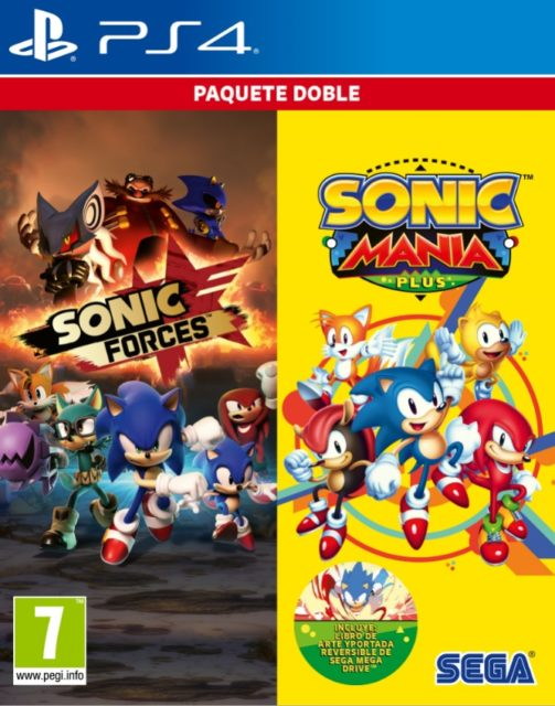 El clásico y el moderno Sonic en una colección única.Sonic Forces y Sonic Manía