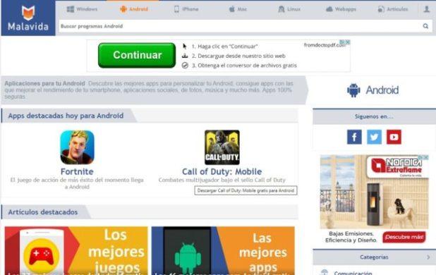 Malavida la mejor alternativa a Google Play para descargar apps