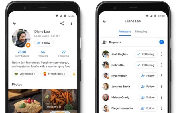 Google Maps ya permite seguir perfiles de usuario