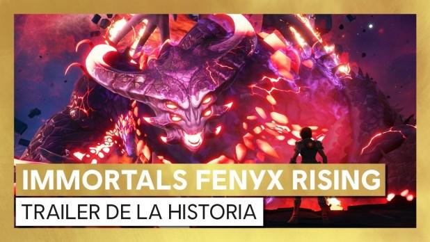 Immortals Fenyx Rising divertido tráiler crossover
