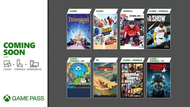 Próximamente en Xbox Game Pass: Grand Theft Auto V, NHL 21, MLB The Show 21 y más