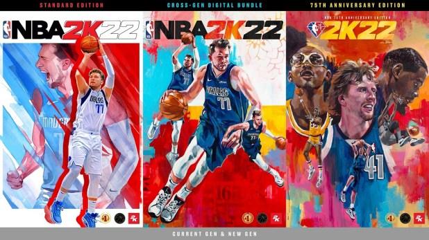 NBA 2K22 presenta la portada con Luka Dončić y a las leyendas de la NBA Kareem Abdul-Jabbar, Dirk Nowitzki y Kevin Durant