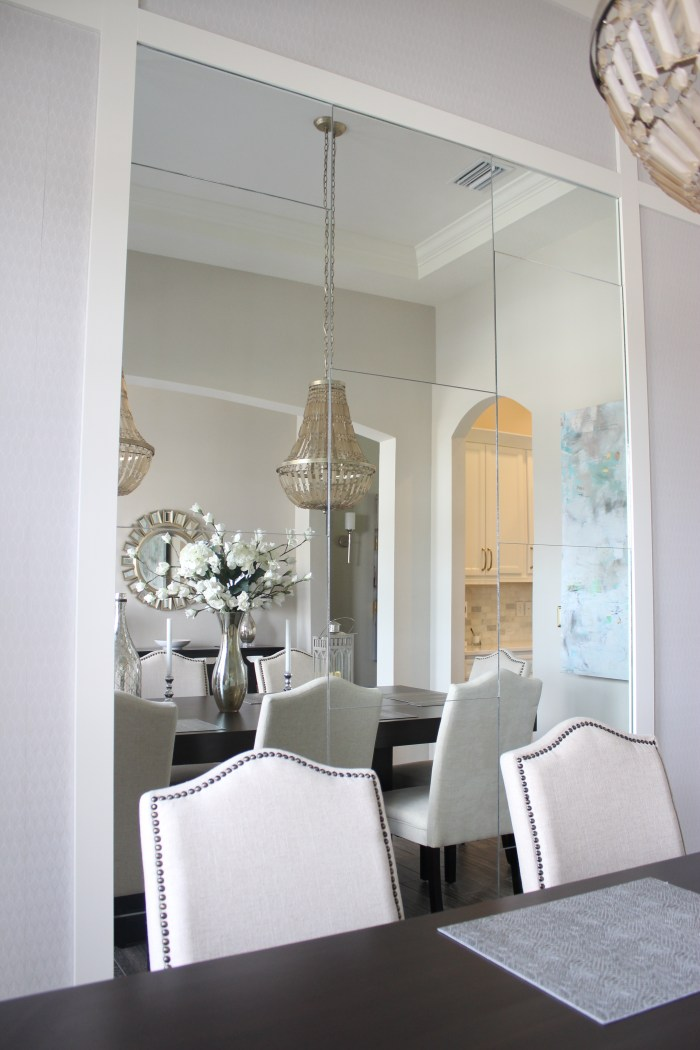 Dining Room Mirror Wall Frills And Drills