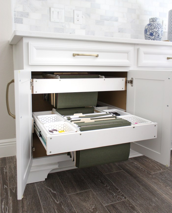 Kitchen Hanging Cabinet: DIY Hanging File Drawer In Kitchen Cabinet