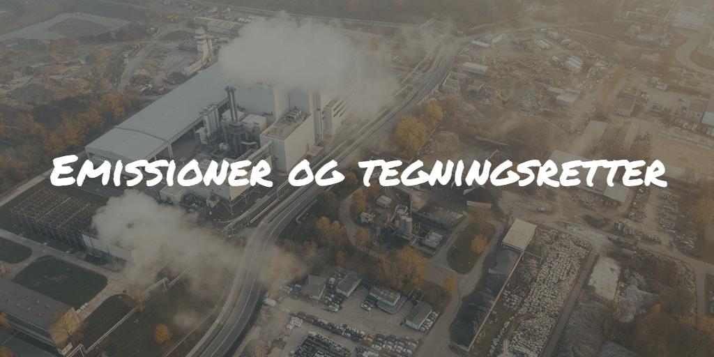 Emissioner og tegningsretter Frinans
