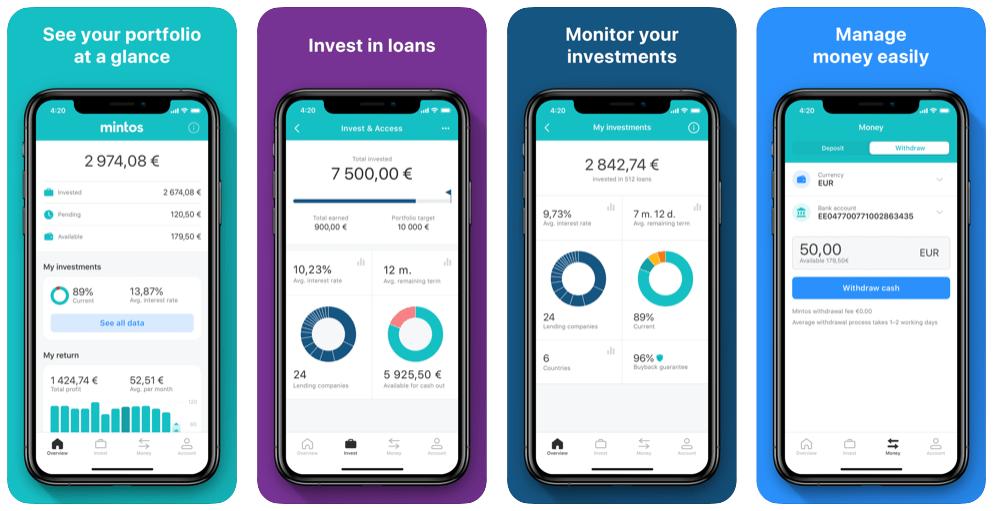 Crowdlending med Mintos app