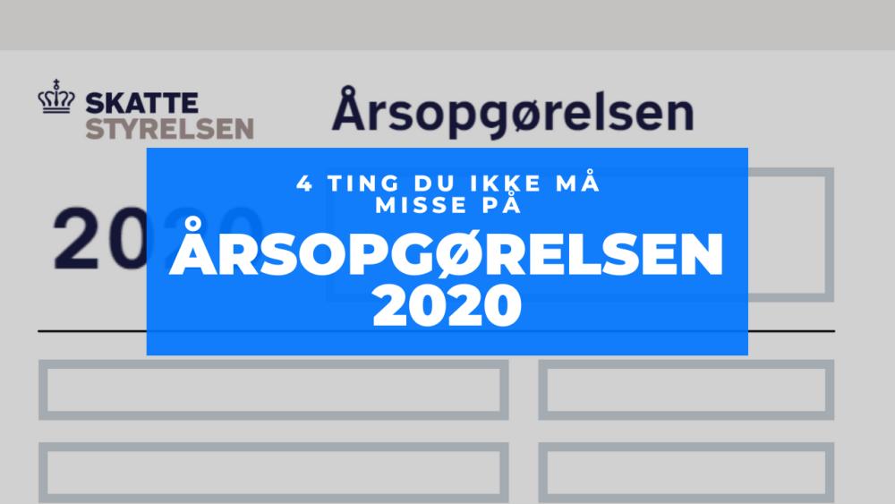 Årsopgørelsen 2020 Frinans