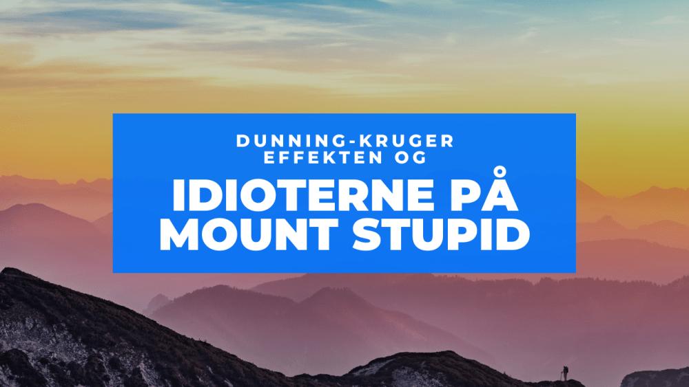 Dunning Kruger effekten Frinans