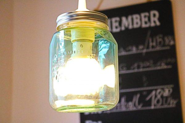 DIY-Lampe-aus-Einmachgläsern