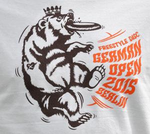 Das Logo der Freestyle-DM in Berlin war auch auf den Teilnehmer-Shirts zu finden.