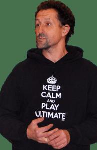 Uwe Kikul vom TV Südkamen 1986  ist Verantwortlicher für das Junioren-Ultimate in Nordrhein-Westfalen.