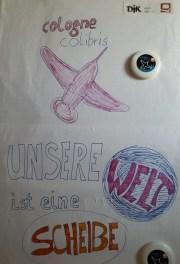 Plakat-Welt-Scheibe