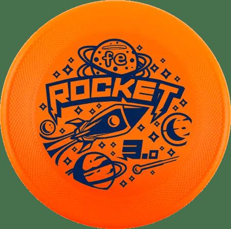 FE Rocket 3 disco per cane frisbee arancio fluo medium bite disc dog performance