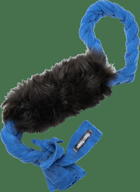 treccia per cani jungle in perlo naturale di capra nero per gioco motivazione contesa migliorare il morso
