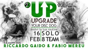 Locandina DISC DOG UPGRADE Prato Febbraio Fabio FE 2020