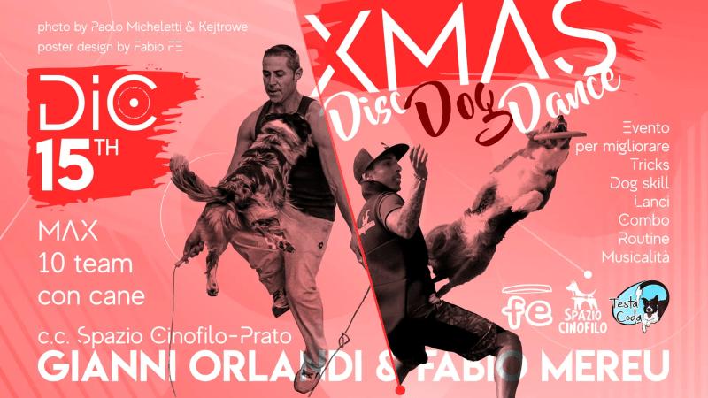 Xmas Disc Dog Dance- prato 15 dicembre 2019