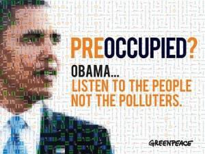 Obama... (Bild: Greenpeace)