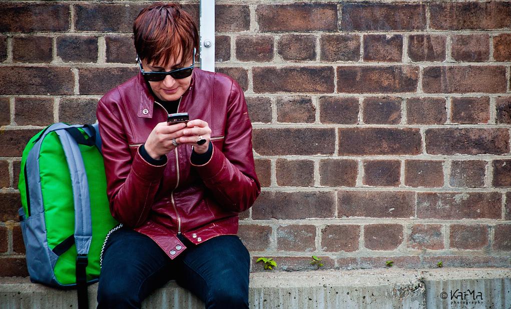 Smartphone on the street