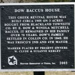 Dow Baccus House, 7546 Oak St.