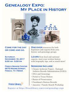 Genealogy Expo 2017