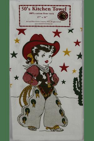 Vintage Cowgirl Towel
