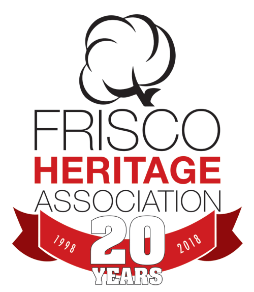 Heritage Association of Frisco 20th Anniversary Logo