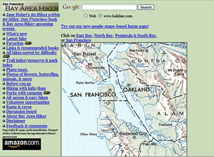 bay area hiker screenshot