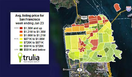 san francisco home prices heat map
