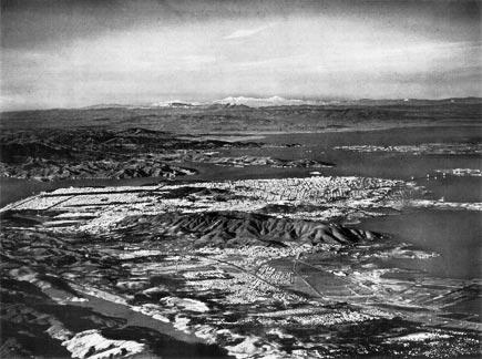 aerial photograph of san francisco, 1949