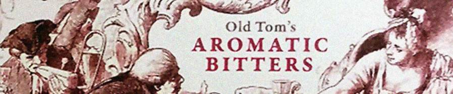 Old Tom's Aromatic Bitters, detail of label.
