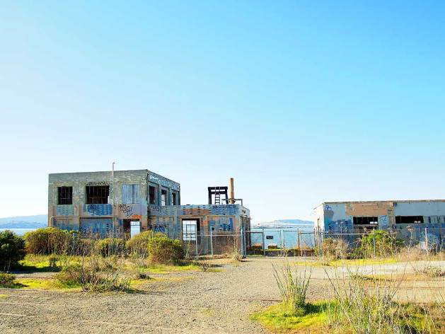 Abandoned buildings at Ferry Point.