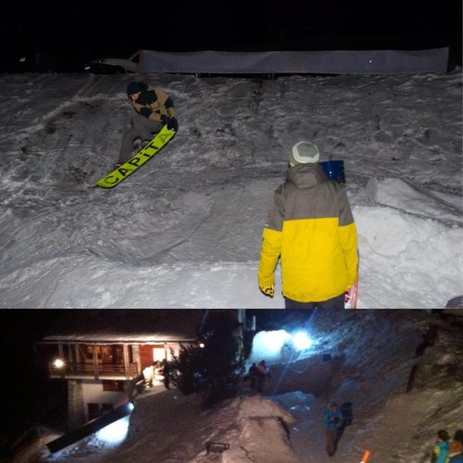 Garden snowpark #TET #10ans #TropEnviedeTenter #latzoumaz #switzerland #nightsession #funny #shredy #goodvibs #snowboarding #frisek was here #capita