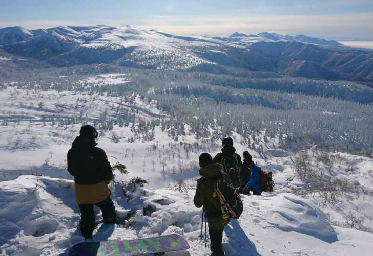 Riding #asahidake with @totori_toshi 🙏👌🇯🇵🏂 #frisek #snowboard #japan #hokkaido
