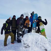 #frisek at the top ! #niseko #japan #hokkaido #snowboard