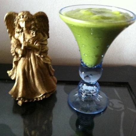 Recept på grön smoothie med grönkål