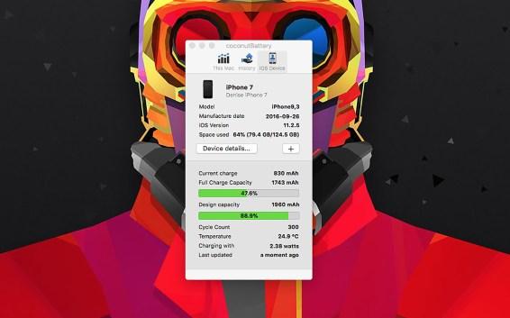 Informationen zum Akku des iPhone 7.