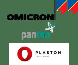Logo Omicron, Pantec, Plaston
