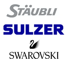 Logo Stäubli, Sulzer, Swarovski