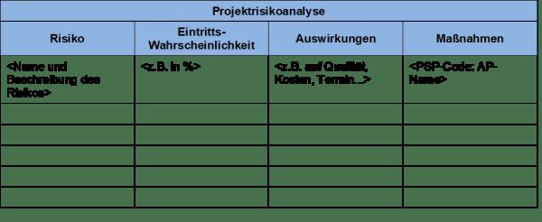 FRITZ - Risikoanalyse Vorlage