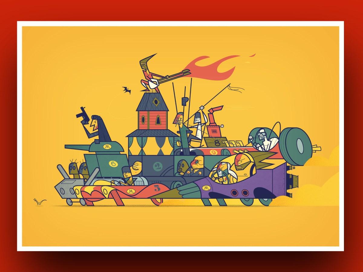 """""""Mad Max"""", illustrato da Ale Giorgini"""