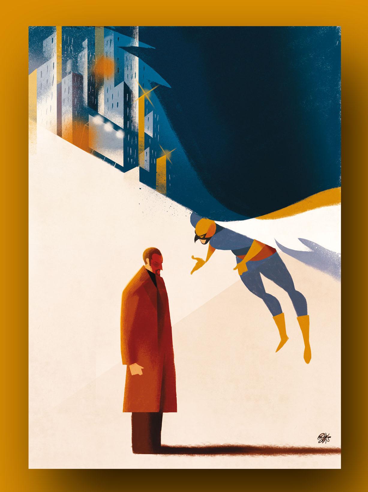 """Birdman"", illustrato da Riccardo Guasco"
