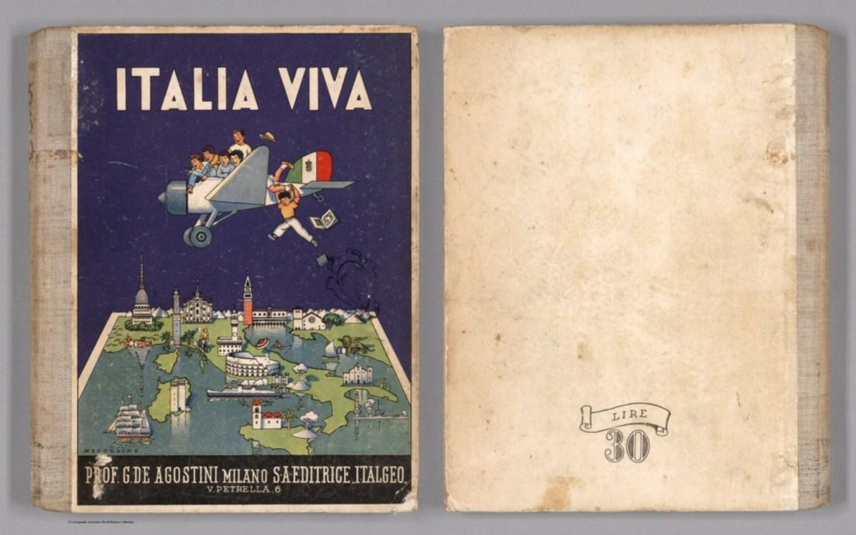 """Italia Viva (copertina), 1941 autore: Giovanni De Agostini editore: Societa Anonima Editrice """"Italgeo"""" (Italia)"""