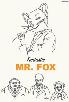 """Fantastic Mr. Fox"" (film), illustrato da Pavel Popov"