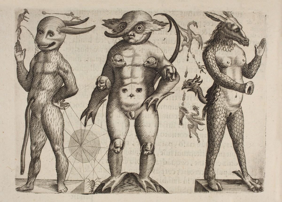 """Tavola tratta da """"De Monstrorum Natura, Caussis, et Differentis"""", di Fortunio Liceti (1577-1657)"""